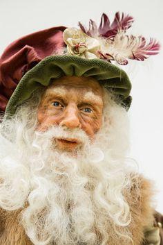 Renaissance Minstrel Santa Doll OOAK by WaltCarterSantas on Etsy