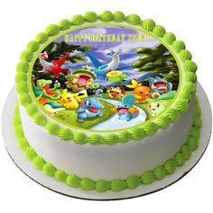POKEMON FOREST Edible Birthday Cake Topper