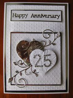 anniversary card CRAFTY IDEAS, MINE AND EVERYONE ELSES