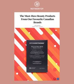 picks for the best beauty products from Canadian brands. Natural Nail Polish, Bite Beauty, True North, Sheet Mask, New Kids, Making Out, Biodegradable Products, Charcoal, Bamboo