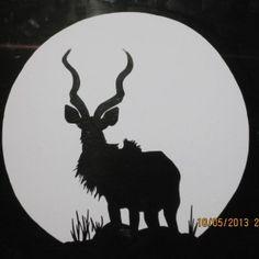 Kudu Decal Stickers African Art, Boy Room, Cat Art, Deer, Stencils, Art Photography, Moose Art, Glass Craft, Toyota Hilux