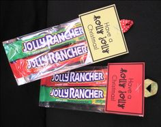 bb posted Holly Jolly Christmas - jolly rancher party favor to their -christmas xmas ideas- postboard via the Juxtapost bookmarklet. Christmas Party Favors, Christmas Goodies, Christmas Treats, Christmas Holidays, Christmas Pranks, Christmas Parties, Christmas Stuff, School Gifts, Student Gifts