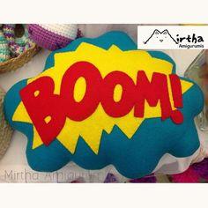 Speech Buble / felt pillow  Super heroe sound efect #cómic #felt #boom #pillow #Guayaquil #ecuador