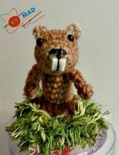 10 Adorable Groundhog Crochet Patterns: Groundhog Finger Puppet Free Crochet Pattern