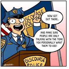 Discourse police academy provides essential tone policing