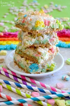 Lucky Charms Magic Bars are a quick snack and perfect for catching Leprechauns