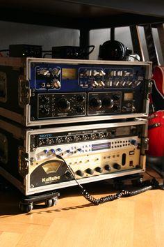 My old rack : TFPro P110 Studio Recording Channel Universal Audio LA 610 mkII MOTU 8 pre Presonus Central Station SPL Kultube Stereo Compressor