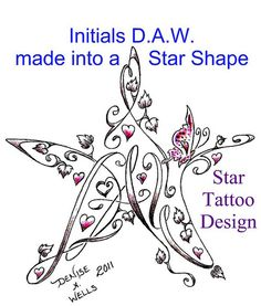 Star Tattoo Design by Denise A. Wells by ♥Denise A. Wells♥, via Flickr