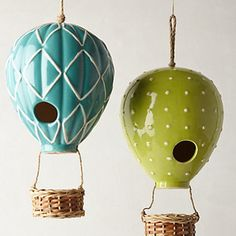 Air Balloon Birdhouse - I love this quirky twist on the birdhouse. If I were going to have one in my backyard, it would be one of these. The...