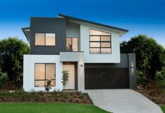 Make the most of double storey home designs by working with Ownit Homes. We provide a variety of Brisbane two story house plans to give you more options. Double Story House, Two Story House Design, House Front Design, Modern House Design, Flat Roof House, Facade House, Style At Home, Ownit Homes, Balcony Railing Design
