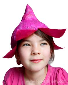 Cute Fairy Springtime Hat Made From Tissue Paper And A Balloonfull