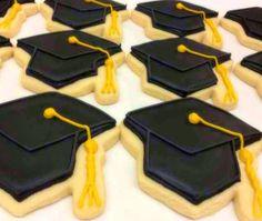 Graduation Cap Decorated Sugar Cookies by SugarLoveAndHappines