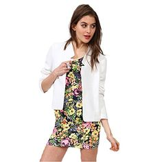 My Wonderful World Womens Plus Long Sleeve Spring Blazer XXLarge White * To view further for this item, visit the image link.