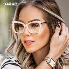 61c71f5500 Spectacle Frame Women Eyeglasses Computer Myopia Optical For Female Vintage  Ladies Eyewear Clear Lens Glasses Frame