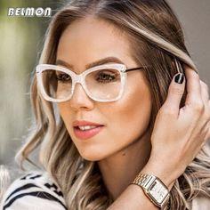 a40b140fcc6ab Comprar Mulheres Óculos de Armação de óculos Computador Miopia Óptico Para  O Sexo Feminino Senhoras Óculos
