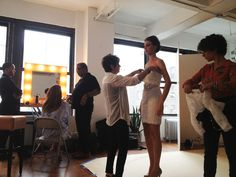 Exclusively for our Social Media followers! Rina Di Montella Spring catalog photoshoot in New York!
