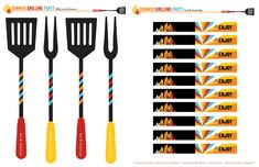 FREE Printables: Summer Grilling Party or BBQ Party // Hostess with the Mostess®