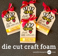 Just Bee-cause card by Jennifer McGuire for Paper Smooches - Bee dies