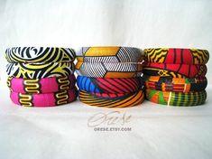 Slims - Ankara African Fabric Bangles