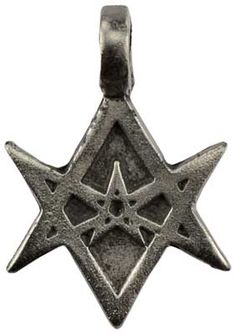 """Often used to invoke the energies of the Planets or the Signs of the Zodiac, the Unicursal Hexagram is a powerful symbol for use in your magical practice. Has cord. Pewter. 1 1/2"""" x 1"""""""