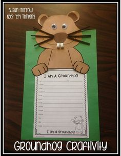 This is a fun FREE Groundhog craftivity with a writing activity.  Perfect for Groundhog Day!