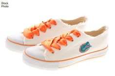 University of Florida Gators white sneakers