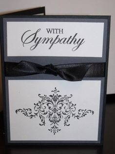 Elegant Sympathy Card ! Stampin UP