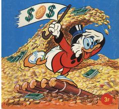 mrs Dewlar: It might was meant to be Uncle Scrooge, Disney Duck, Scrooge Mcduck, Old Comics, Old Cartoons, Comic Covers, Donald Duck, Tigger, Bowser