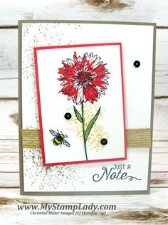 See How To Make A Note Card With Stampin' Up!'s Touches Of...texture, comes w video!!!