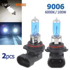 2pcs! 12V 9006 100W High Power Auto HOD Xenon Gas Halogen Lamp 6000K Car Headlight Head Light Bulb for Safe Driving