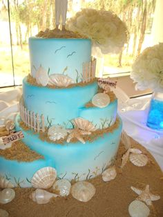 Red Velvet With White Chocolate Ganache Chocolate Shells Brown Sugar Sand We Recreated This Cake For A Bride And Groom That Was So Head O