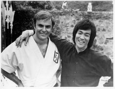 John Saxon and Bruce Lee. Saxon is known for his work in westerns and horror films, as well as for his role as Roper in the 1973 film Enter the Dragon, in which he starred with Bruce Lee and Jim Kelly.