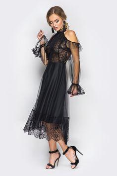 471e50fb813 Купить Платье Frey черное недорого в интернет-магазине Платьице с доставкой  по Киеву и Украине.