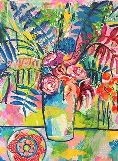 Abstract Flower Still Life. www.artonthemoon.com