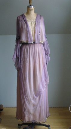 Lavender Silk 1910 Dress