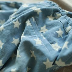 star pattern denim