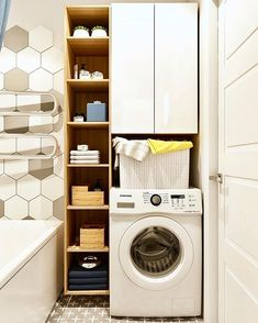 Laundry Room Layouts, Laundry Room Cabinets, Laundry Room Organization, Laundry Room Design, Bathroom Design Small, Laundry In Bathroom, Bathroom Interior Design, Outdoor Laundry Rooms, Modern Luxury Bathroom