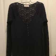 Abercrombie  blue top Soft and comfortable shirt to wear dresses up or down . Perfect for layering. Abercrombie & Fitch Tops Camisoles