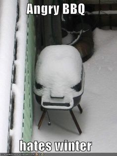 BBQ especially hates snow in April