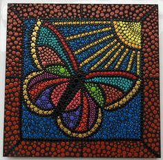 Resultado de imagen para mariposas en puntillismo Art Painting Gallery, Dot Art Painting, Mandala Painting, Fabric Painting, Mandala Canvas, Mandala Dots, Mandala Design, Deco Ethnic Chic, Dream Catcher Mandala