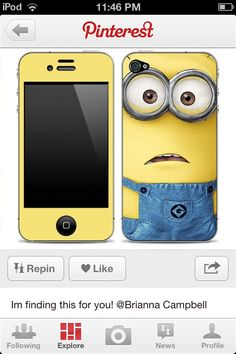 Dispicable me iPhone!!!! Ok this would be for me but for daff
