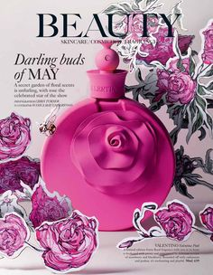 Valentino perfume and Illustrations shoot for Harrods magazine, Illustrations by Jessica May Underwood Cosmetic Display, Cosmetic Design, Still Life Photography, Beauty Photography, Photography Ideas, Valentino Perfume, Kenzo Parfum, Beauty Editorial, Paper Art