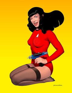 Star Trek Bettie Page by bonniegrrl, via Flickr