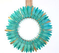 Feather Wreath #cricut #craft