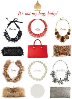 Bags clutches and necklaces for holidays