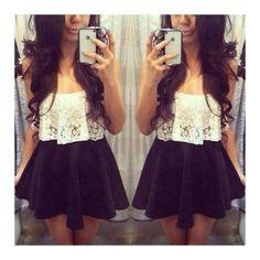 With a black velvet skater skirt ah(: