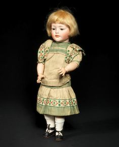 A rare Hertel, Schwab & Co 149 bisque head character doll