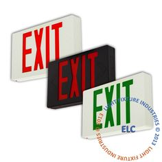 Exit Sign,UL Listed - LED - Multiple Options