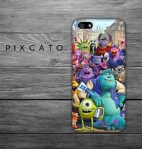 Mike, Sulley and Friends - Disney Monster University 05  - Iphone Case, Hard Plastic