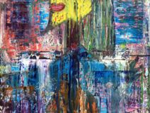 Abstract oil painting - RM 804 - 16